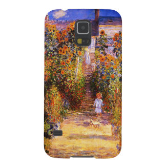 Claude Monet-Monet's Garden at Vétheuil Galaxy S5 Covers
