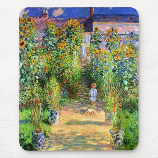 Claude Monet: Monet's Garden at Vétheuil Mouse Mat