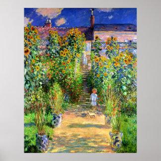 Claude Monet: Monet's Garden at Vétheuil Poster