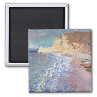Claude Monet | Morning at Etretat Square Magnet