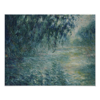 Claude Monet - Morning on the Seine Poster