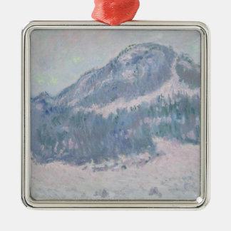 Claude Monet | Mount Kolsaas, Norway, 1895 Silver-Colored Square Decoration