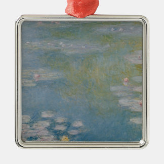 Claude Monet | Nympheas at Giverny, 1908 Silver-Colored Square Decoration