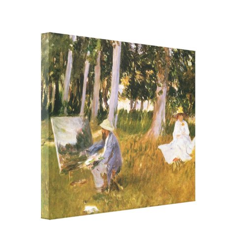 Claude Monet Painting, Edge of a Wood by Sargent Canvas Prints