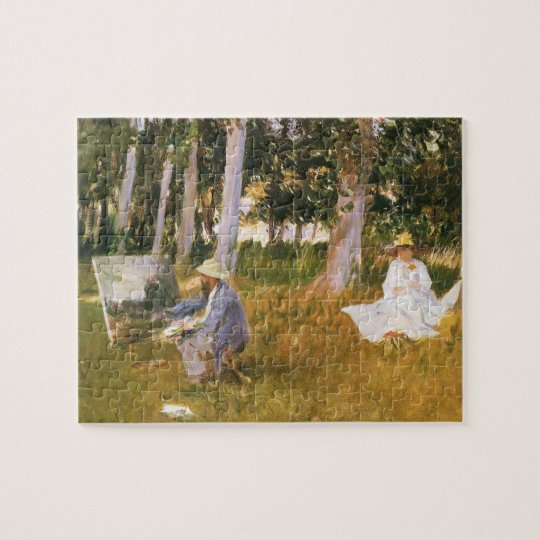 Claude Monet Painting, Edge of a Wood by