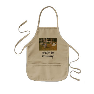 Claude Monet Painting, Edge of a Wood by Sargent Kids Apron