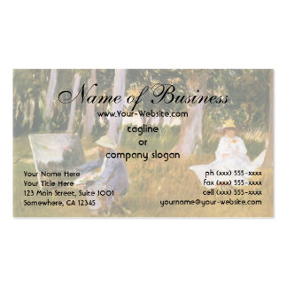 Claude Monet Painting, Edge of a Wood  by Sargent Pack Of Standard Business Cards