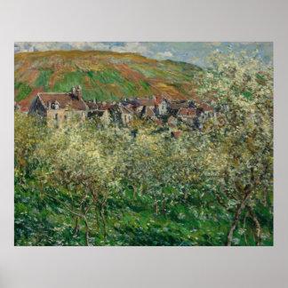 Claude Monet Painting Oil Canvas Artistic Nature Poster