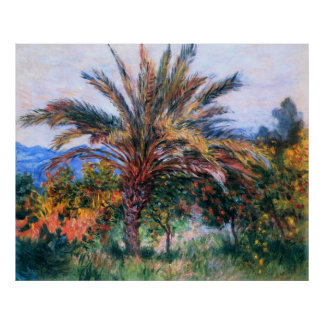 Claude Monet: Palm Tree at Bordighera Poster