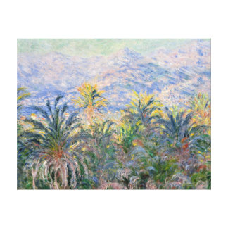 Claude Monet Palm Trees at Bordighera Canvas Print