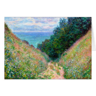 Claude Monet: Path at La Cavee Pourville Card