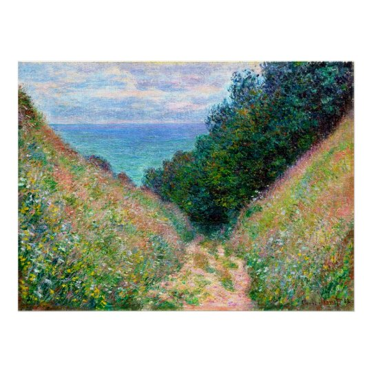 Claude Monet: Path at La Cavee Pourville Poster