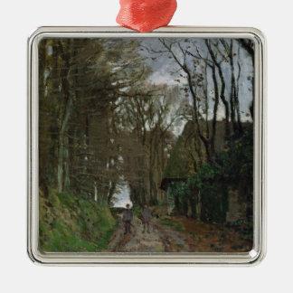 Claude Monet   Path in Normandy Silver-Colored Square Decoration