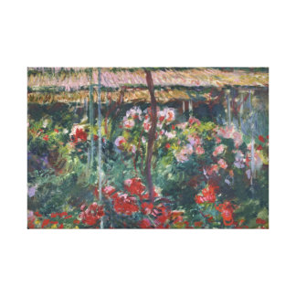 Claude Monet - Peony Garden Stretched Canvas Print