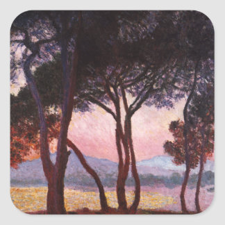 Claude Monet: Pines Square Sticker