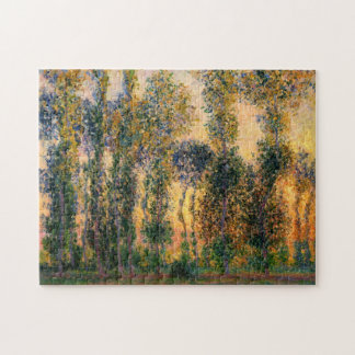 Claude Monet: Poplars at Giverny in Sunrise Jigsaw Puzzle