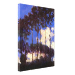 Claude Monet - Poplars at the Epte Stretched Canvas Print