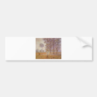 Claude Monet - Poplars in the Sun Car Bumper Sticker