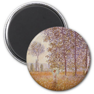 Claude Monet - Poplars in the Sun Magnet