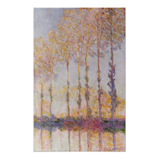 Claude Monet | Poplars on the Banks of the Epte Poster