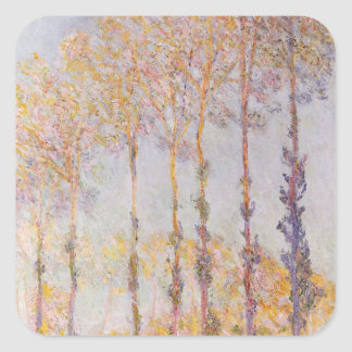 Claude Monet | Poplars on the Banks of the Epte Square Sticker
