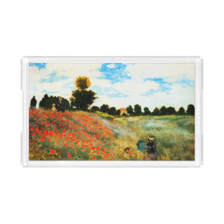 Claude Monet-Poppies at Argenteuil Acrylic Tray