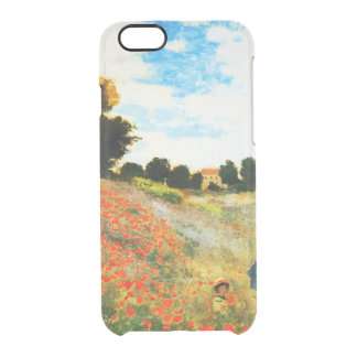 Claude Monet-Poppies at Argenteuil Clear iPhone 6/6S Case