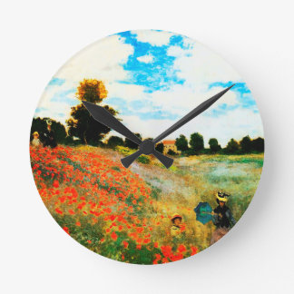 Claude Monet-Poppies at Argenteuil Clocks