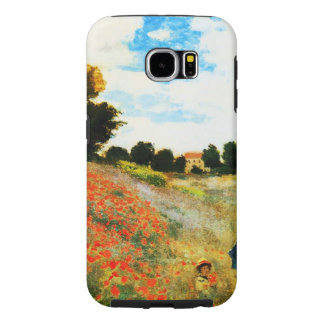 Claude Monet-Poppies at Argenteuil Samsung Galaxy S6 Cases