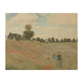 Claude Monet - Poppy Field Wood Canvases