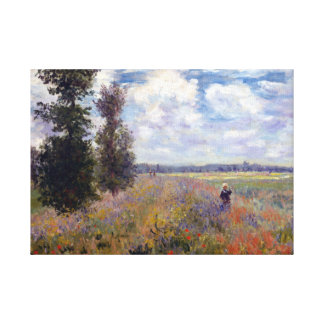 Claude Monet Poppy Fields near Argenteuil Canvas Print