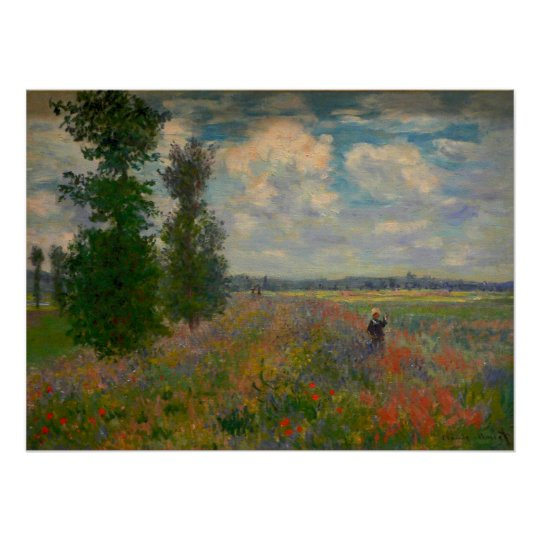 Claude Monet - Poppy Fields - Poster