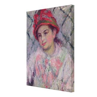 Claude Monet | Portrait of Blanche Hoschede Canvas Print