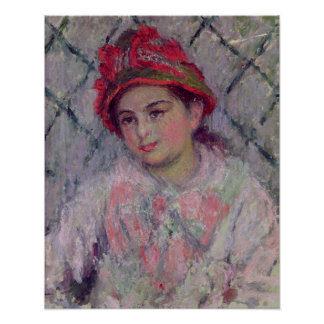 Claude Monet | Portrait of Blanche Hoschede Poster