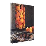 Claude Monet - Pot of Peaches Gallery Wrap Canvas