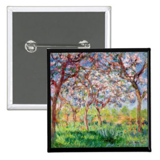 Claude Monet | Printemps a Giverny 15 Cm Square Badge