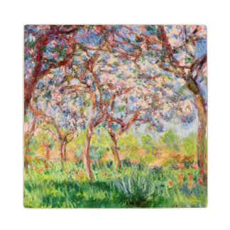Claude Monet | Printemps a Giverny, 1903 Wood Coaster