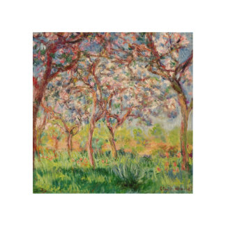 Claude Monet | Printemps a Giverny Wood Wall Decor
