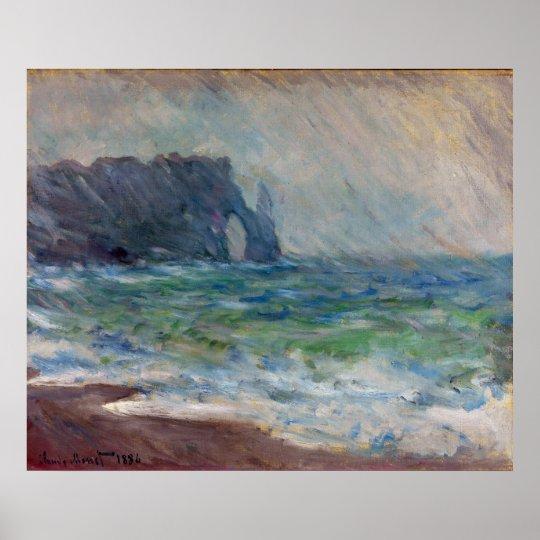 Claude Monet Rainfall Etretat Normandy France Poster