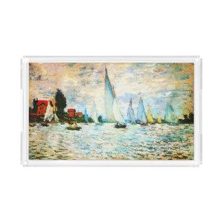 Claude Monet-Regatta at Argenteuil Acrylic Tray