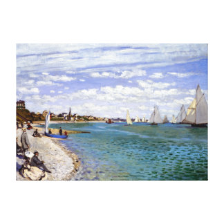 Claude Monet Regatta at Sainte-Adresse Canvas Print