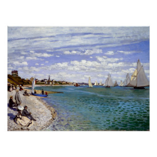 Claude Monet Regatta at Sainte-Adresse Poster