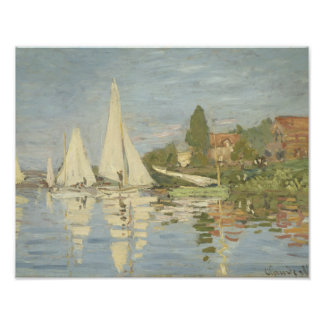 Claude Monet - Regattas at Argenteuil Art Photo