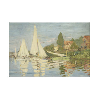Claude Monet - Regattas at Argenteuil Stretched Canvas Prints