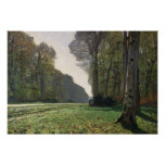 Claude Monet | Road to Bas-Breau, Fontainebleau Poster
