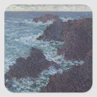 Claude Monet | Rocks at Belle-Ile, the Wild Coast Square Sticker