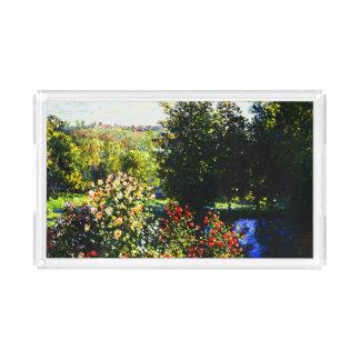 Claude Monet-Roses in the Garden at Montgeron Acrylic Tray
