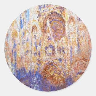 Claude Monet - Rouen Cathedral Classic Round Sticker