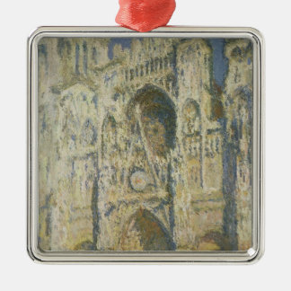 Claude Monet   Rouen Cathedral in Full Sunlight Silver-Colored Square Decoration