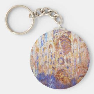Claude Monet - Rouen Cathedral Key Ring